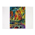Grand Prix Auto Race Painting Print 5'x7'Area Rug