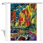 Grand Prix Auto Race Painting Print Shower Curtain