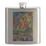 Grand Prix Auto Race Painting Print Flask