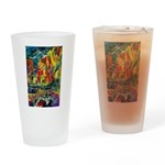 Grand Prix Auto Race Painting Print Drinking Glass