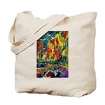 Grand Prix Auto Race Painting Print Tote Bag