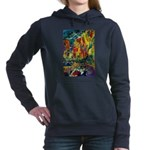 Grand Prix Auto Race Painting Print Women's Hooded