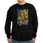 Grand Prix Auto Race Painting Print Sweatshirt