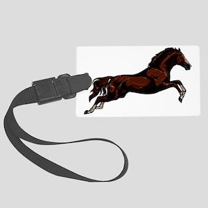Metallic Jumping Horse Large Luggage Tag