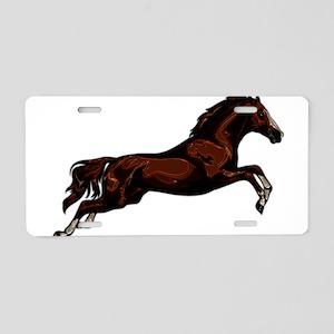Metallic Jumping Horse Aluminum License Plate