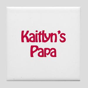 Kaitlyn's Papa Tile Coaster