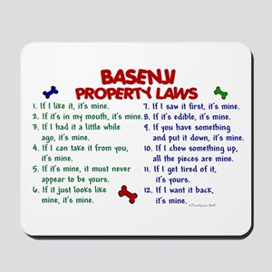 Basenji Property Laws 2 Mousepad