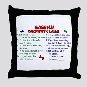 Basenji Property Laws 2 Throw Pillow