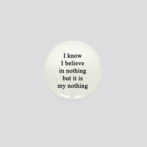 My nothing Mini Button