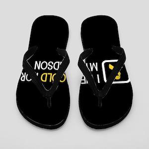 Childhood Cancer: Gold For My Grandson Flip Flops