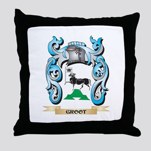 Groot Coat of Arms - Family Crest Throw Pillow