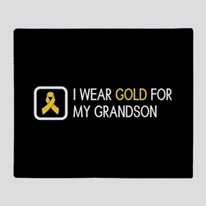 Childhood Cancer: Gold For My Grands Throw Blanket