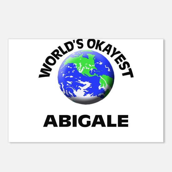 World's Okayest Abigale Postcards (Package of 8)