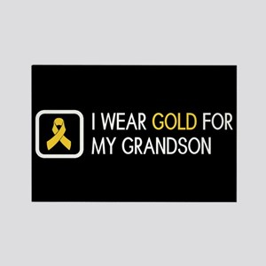 Childhood Cancer: Gold For My Gra Rectangle Magnet