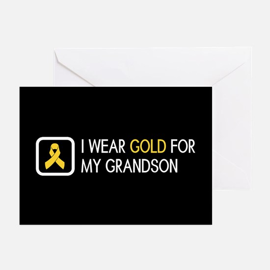 Childhood Cancer: Gold F Greeting Cards (Pk of 10)