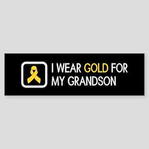 Childhood Cancer: Gold For My Gra Sticker (Bumper)