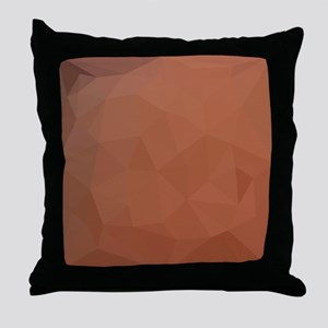 Burnt Orange Abstract Low Polygon Background Throw