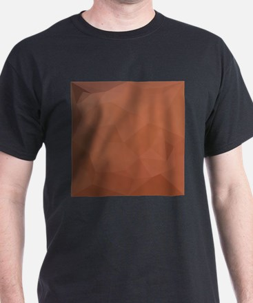 Burnt Orange Abstract Low Polygon Background T-Shi