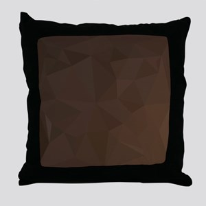 Dark Puce Brown Abstract Low Polygon Background Th