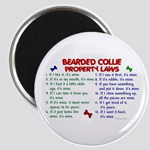 Bearded Collie Property Laws 2 Magnet