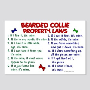 Bearded Collie Property Laws 2 Postcards (Package