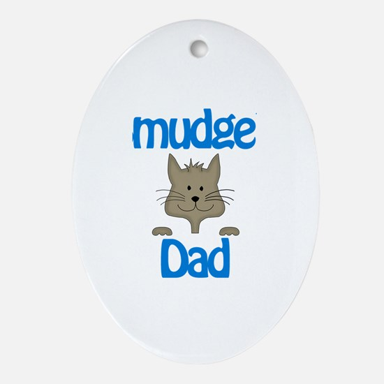 Smudge's Dad Oval Ornament