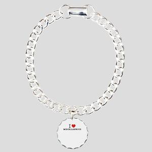 I Love MISCELLANEOUS Charm Bracelet, One Charm