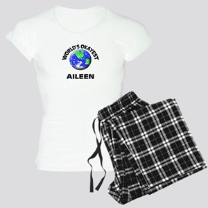 World's Okayest Aileen Women's Light Pajamas