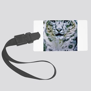 Snow Leopard Large Luggage Tag