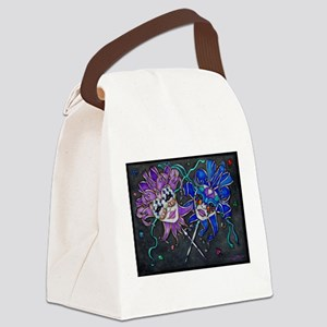 Comedy/Tragedy Jester Masks Canvas Lunch Bag