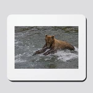 Male Grizzly fishing Mousepad