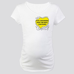 Civil Engineer Contours Maternity T-Shirt