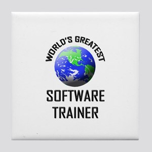 World's Greatest SOFTWARE TRAINER Tile Coaster