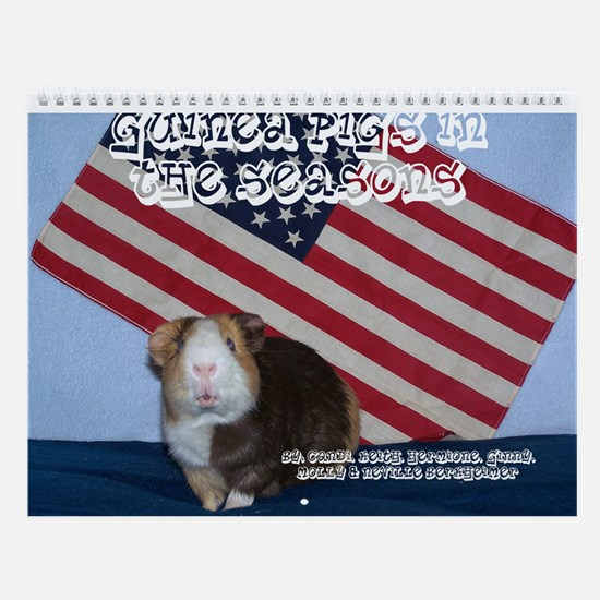 2009 Guinea Pigs in the Seasons Wall Calendar