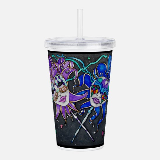 Comedy/Tragedy Jester Acrylic Double-wall Tumbler