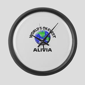 World's Okayest Alivia Large Wall Clock