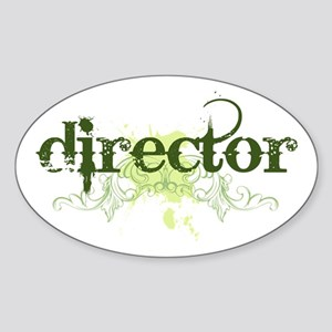 Director Oval Sticker