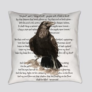 Edgar Allen Poe The Raven Poem Everyday Pillow