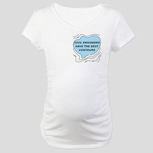 Civil Engineers Contours Maternity T-Shirt