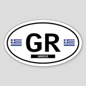 Greece 2F Oval Sticker