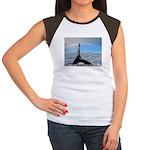 RAINBOW WHALES Women's Cap Sleeve T-Shirt