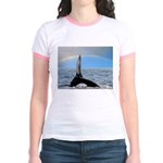 RAINBOW WHALES Jr. Ringer T-Shirt