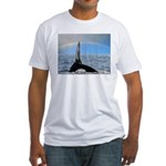 RAINBOW WHALES Fitted T-Shirt