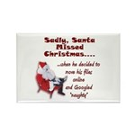 Santa Missed Christmas Rectangle Magnet (100 pack)