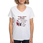 Santa Missed Christmas Women's V-Neck T-Shirt