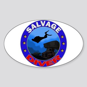 Salvage Diver Oval Sticker