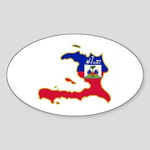 Cool Haiti Oval Sticker