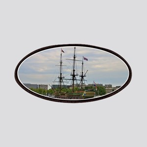 Old sailing ship, Amsterdam, Holland Patch