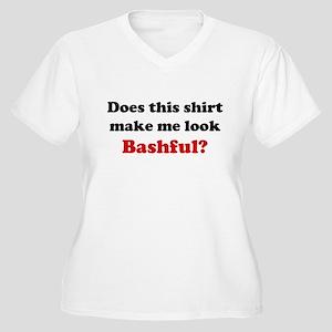 Make Me Look Bashful Women's Plus Size V-Neck T-Sh