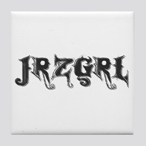 JRZGRL (Jersey Girl) Tile Coaster